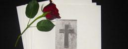 Salme-/sanghæfter med kors